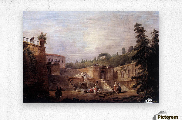 Fountain on a Palace Terrace  Metal print