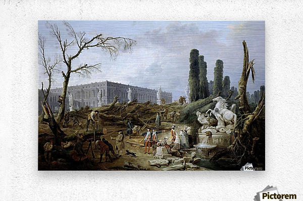 Fountain of Apollo gardens of Versailles - 1774  Metal print