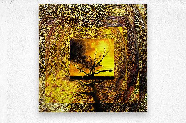 Tree Layers 7  Metal print