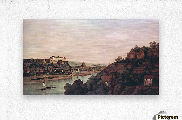 View of Pirna -1- by Canaletto  Metal print