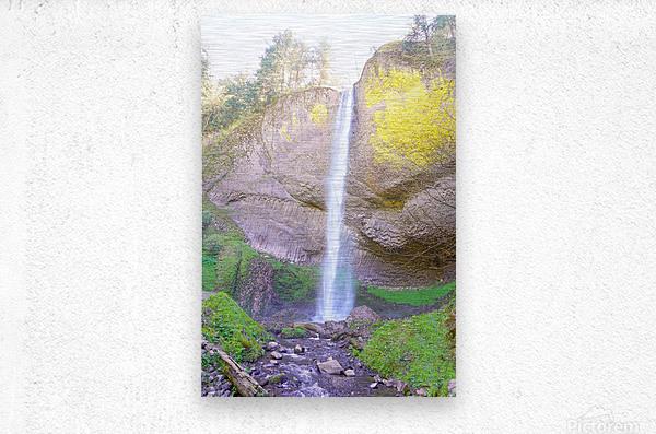 Majestic Falls in the Gorge   Columbia River Oregon  Metal print