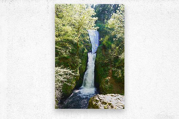Falls in The Gorge 2   Columbia River Oregon  Metal print