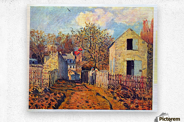 Village of Voisins (now part of Louveciennes) by Sisley  Metal print