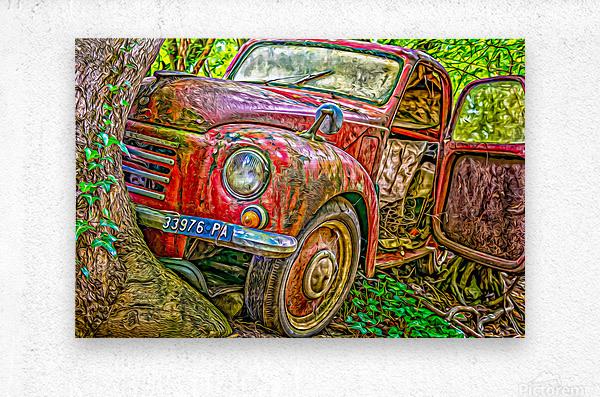 Old Pickup  Metal print