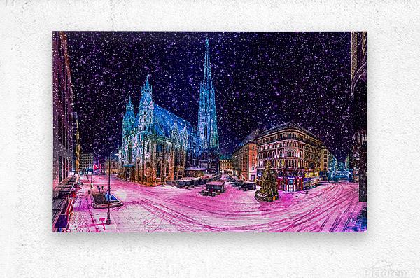 Christmas in Vienna  Metal print