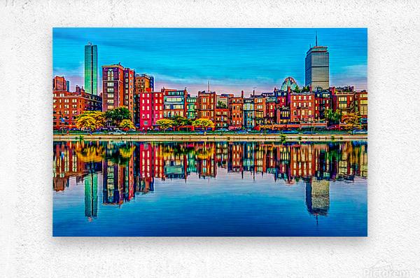 Boston Back Bay reflection  Metal print