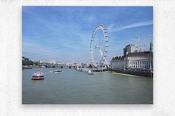 Snapshot in Time Quintessential London 4 of 5  Metal print