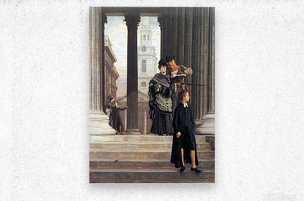 Visitors in London by Tissot  Metal print