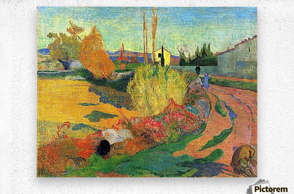 Von Arles by Gauguin  Metal print