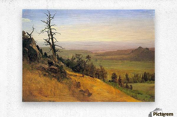 Wasatch Mountains Nebraska by Bierstadt  Metal print