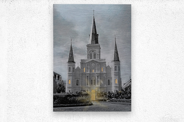 St Louis Cathedral - New Orleans  Metal print