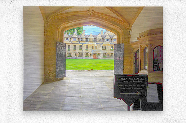 Snapshot in Time Presents a Visit to Oxford 4 of 8  Metal print