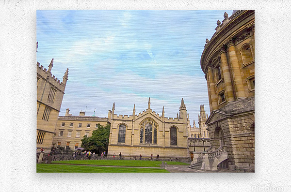 Snapshot in Time Presents a Visit to Oxford 2 of 8  Metal print