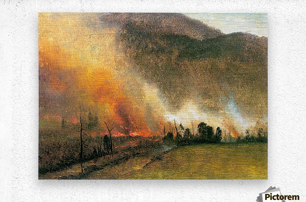 White Mountains, New hampshire 1 by Bierstadt  Metal print