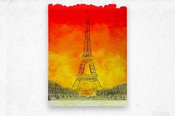 Eiffel Tower. Clayton T  Metal print
