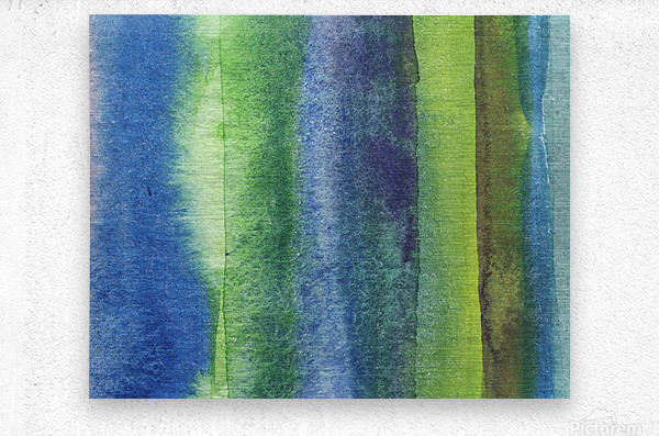Ocean And Sea Beach Coastal Art Organic Watercolor Abstract Lines IV  Metal print