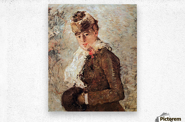 Winter (woman with Muff) by Morisot  Metal print