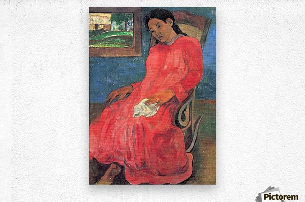 Woman in Red Dress by Gauguin  Metal print