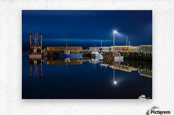 Night Time at the Wharf  Metal print