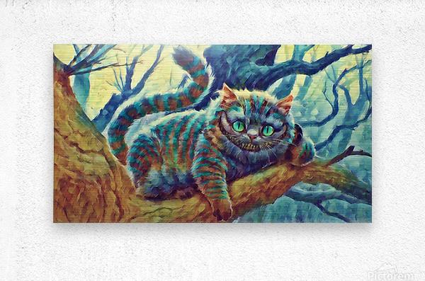 Cheshire Cat   Metal print
