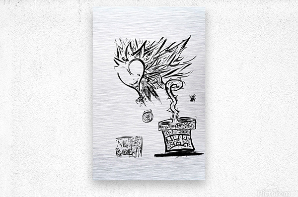 2021 heart flower   Metal print