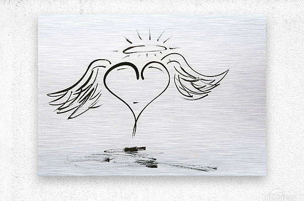 2020 heart angel  Metal print