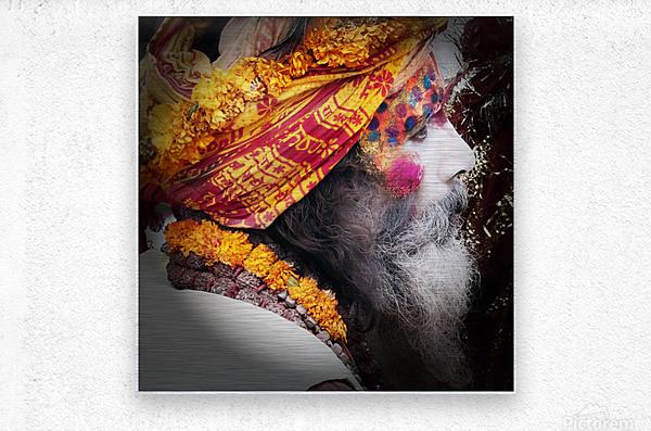 Priest India  Metal print