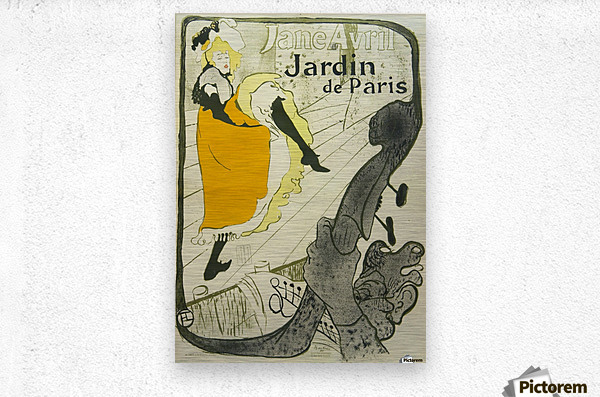 Jane avril jardin de paris vintage poster canvas for Jardin de paris jane avril