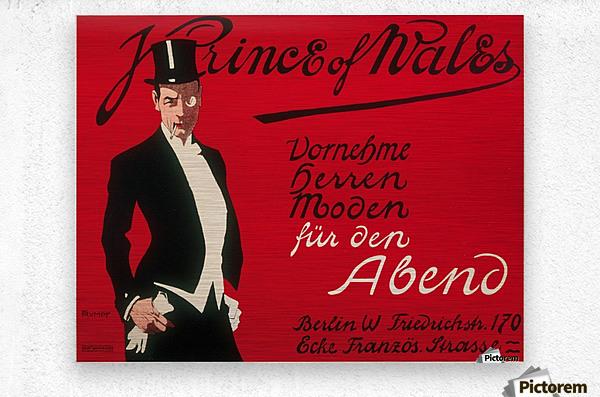 Prince of Wales Original Vintage Poster  Metal print