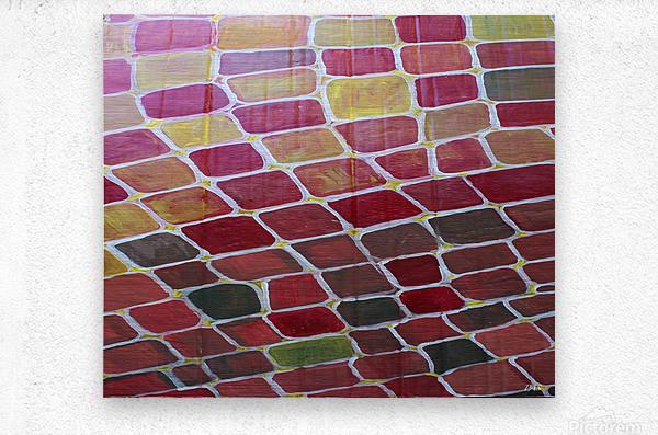 colorblocks  Metal print