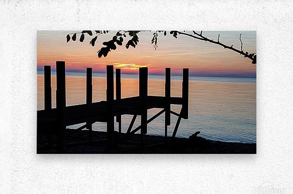 Lake Erie Doc  Metal print
