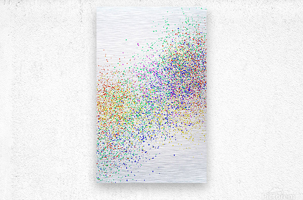 ABSTRACT PAINTING 47  Metal print