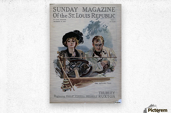 Sunday Magazine of the St Louis Republic  Metal print