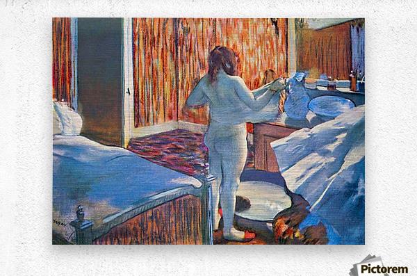 Women at the toilet 3 by Degas  Metal print