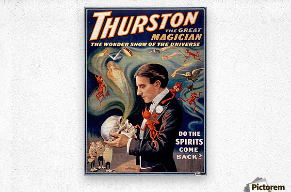 Thurston the Great Magician Vintage Poster  Metal print