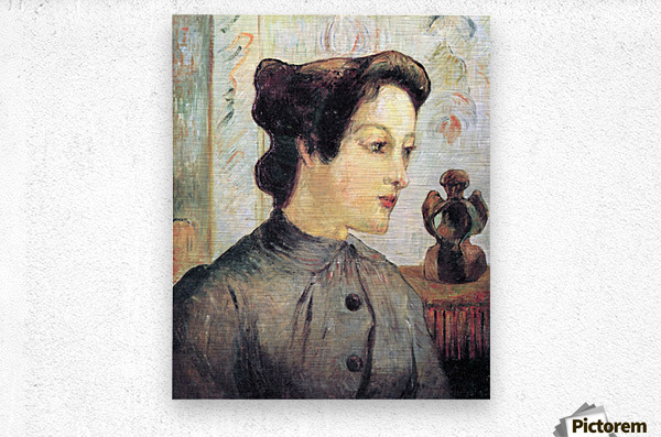 Women With Topknots by Gauguin  Metal print