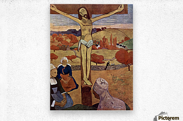 Yellow Christ by Gauguin  Metal print