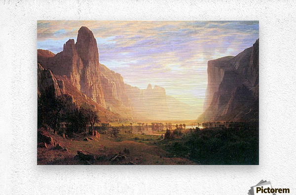 Yosemite Valley 3 by Bierstadt  Metal print