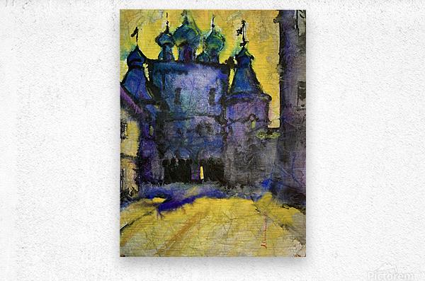 Monastery  Metal print