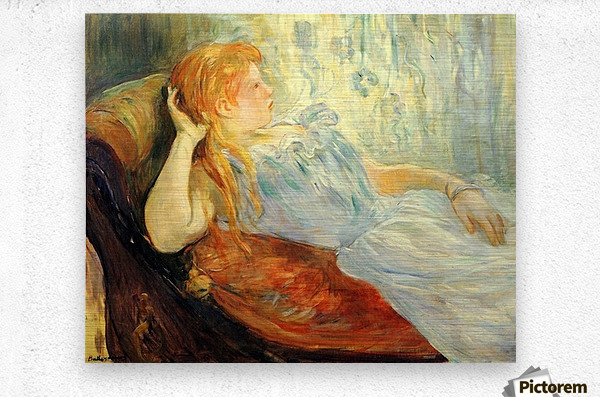 Young girl resting -2- by Morisot  Metal print