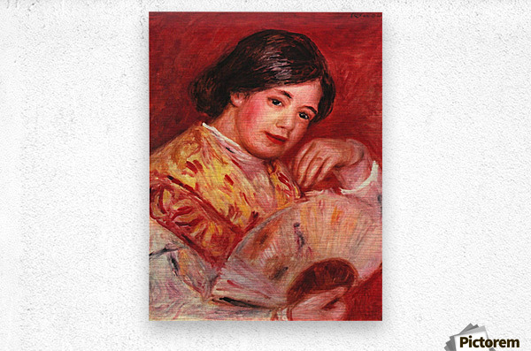 Young girl with fan by Renoir  Metal print