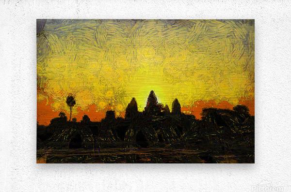 CAMBODIA 136 Angkor Wat  Siem Reap VincentHD  Metal print