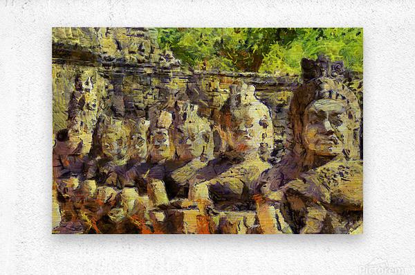 CAMBODIA Angkor Wat oil painting in Vincent van Gogh style. 141  Metal print