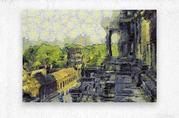 CAMBODIA Angkor Wat oil painting in Vincent van Gogh style. 130  Metal print