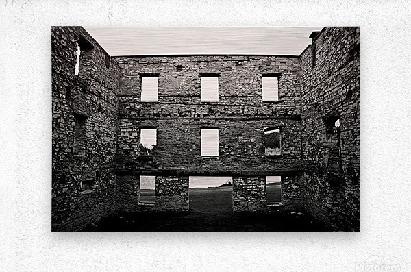 Stone Structure  Metal print