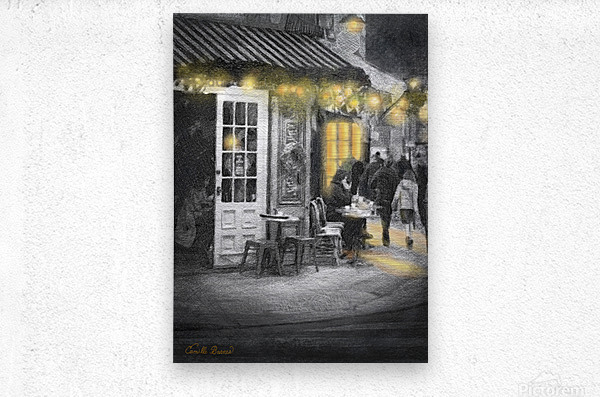 Night time is the right time  Metal print