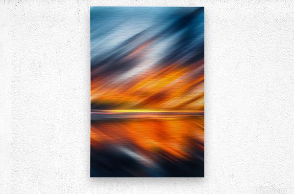 Abstract Movement XXXV  Metal print