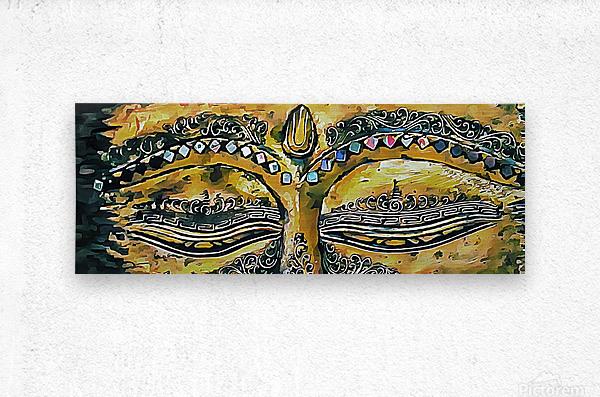 Eyes of Buddha  Metal print