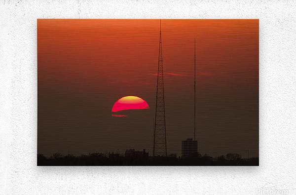 KCMO Tower Sunset   Metal print