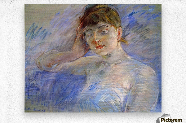 Young woman in white by Morisot  Metal print